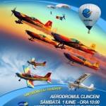 Spectacol aviatic la Aerodromul Clinceni