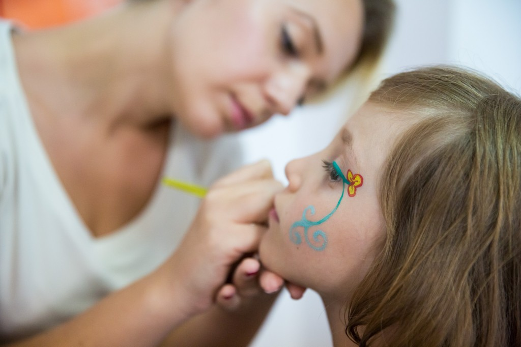 Body painting pentru copii la Summer Camp