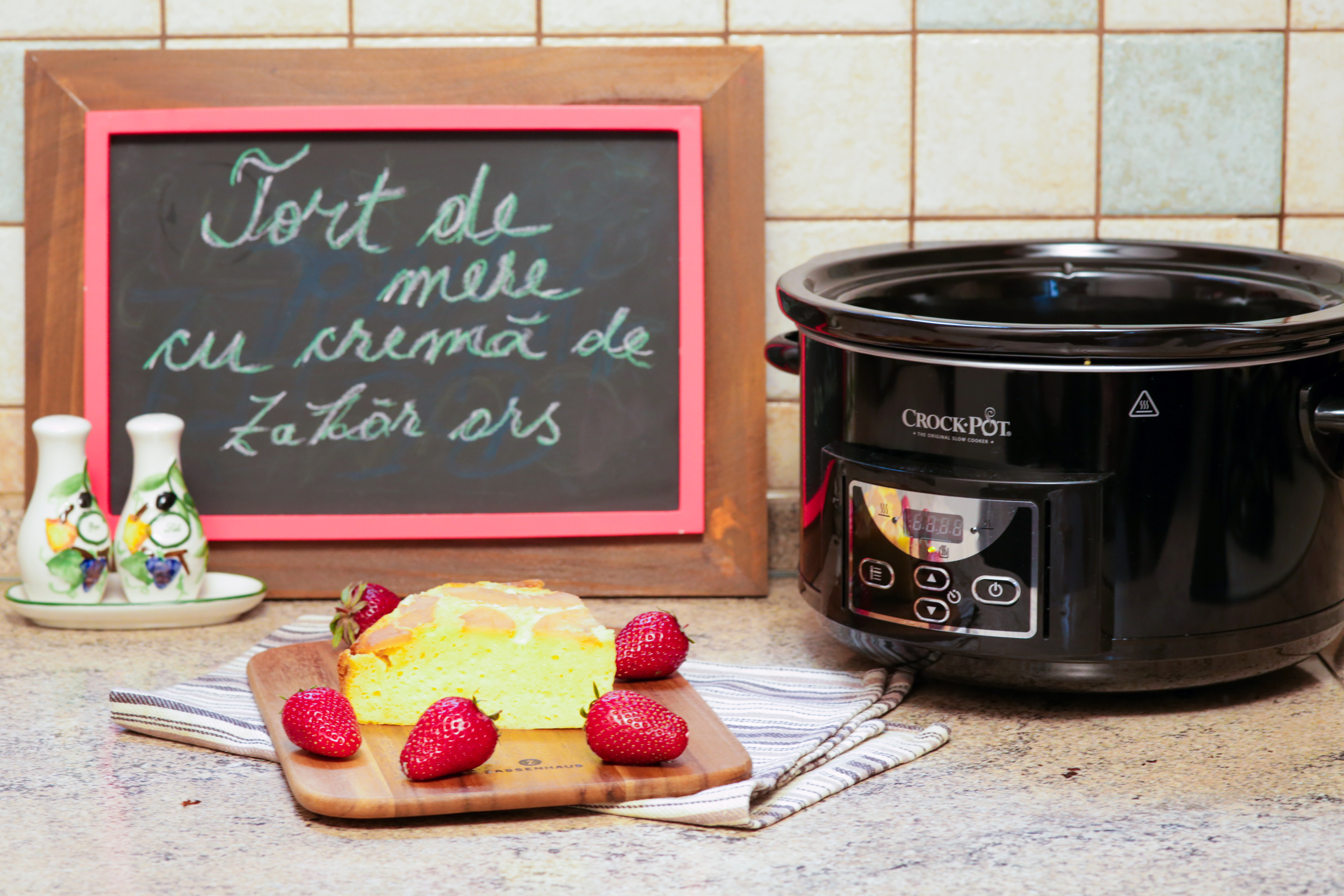 Cel mai sănătos și mai rapid dulce: tort de mere cu cremă de zahăr ars. Fără pericol de îngrășare :)