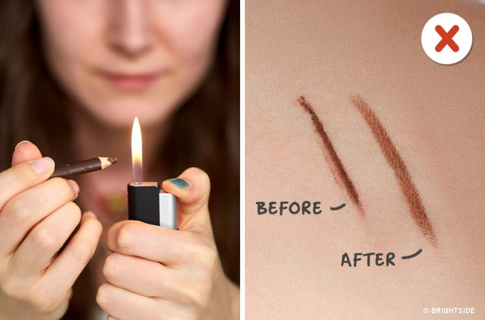 Dacă încerci, creionul se va topi foarte repede, iar liniile trase nu vor mai fi deloc precise.